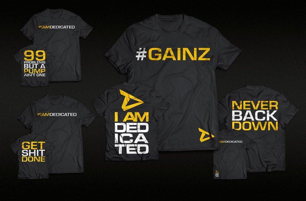 Neue T-Shirts von Dedicated Nutrition - jetzt bestellen!