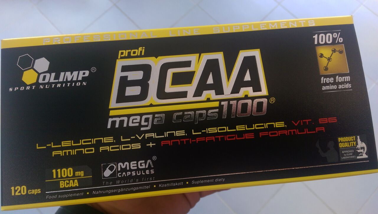 BCAA Mega Caps 1100 von Olimp Nutrition - Review