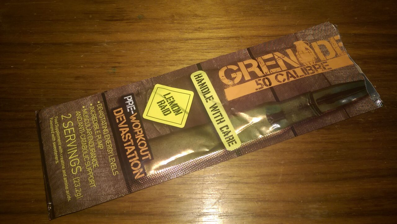 Grenade 50 Calibre - Pre Workout Booster - Supplement Review