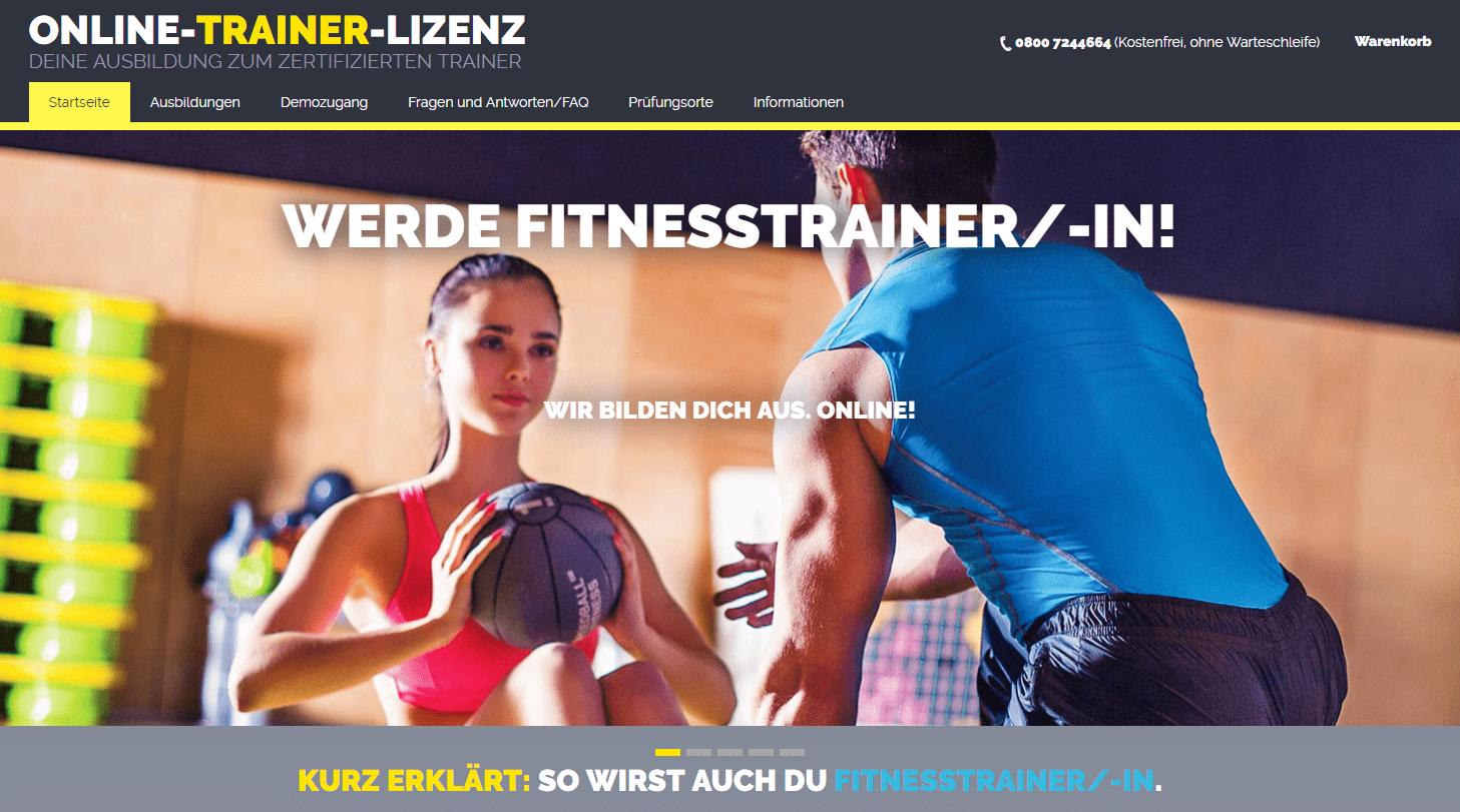 Jetzt Fitness-Trainer werden - B-Lizenz / A-Lizenz von Daheim