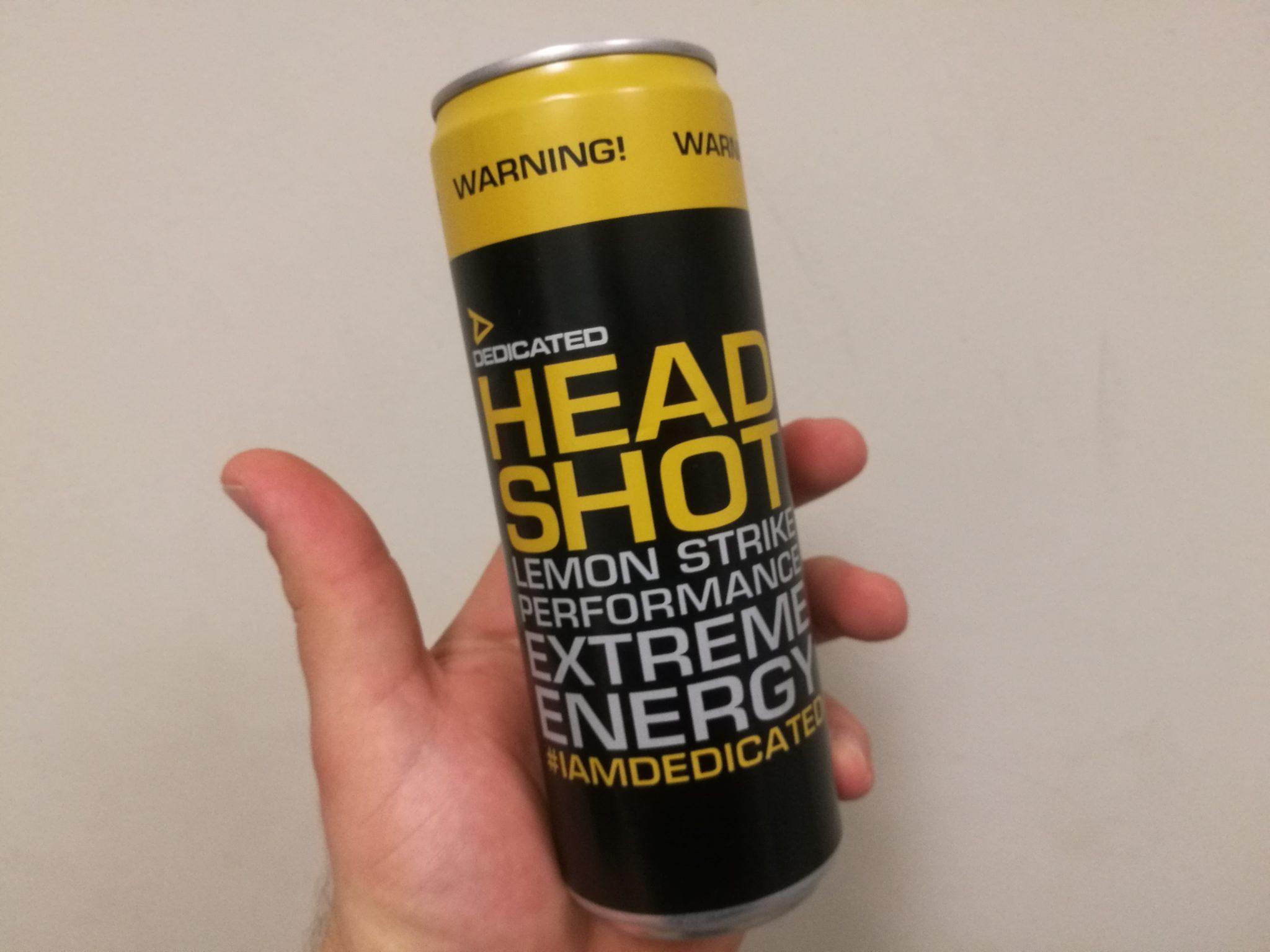 Dedicated Headshot Energy Drink - Produktbewertung / Erfahrung