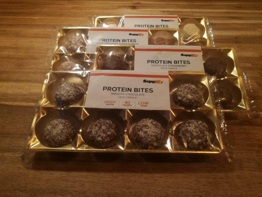 Supplify Protein Bites, 8 Pralinen