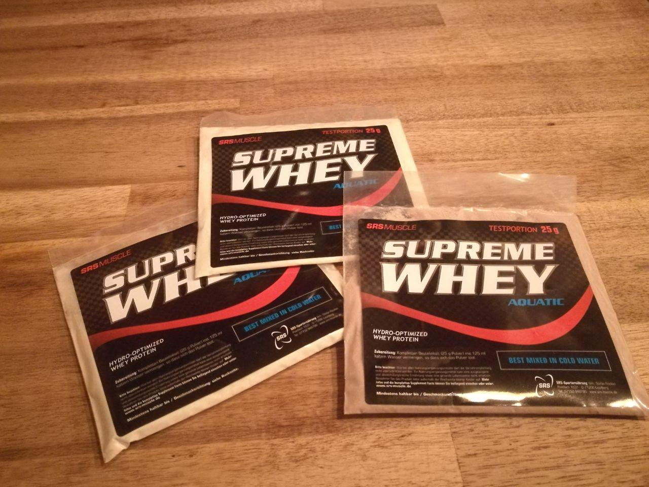 Supreme Whey von SRS Muscle - Produktreview