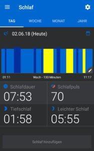 Schlaf Tracking mit dem Mi Band 2