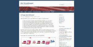 Beitrag beim Shopblogger