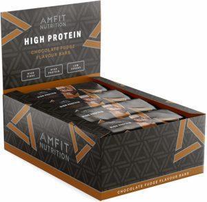 Amfit Nutrition Protein-Riegel mit Schokoladen-Fudge Geschmack 12er Pack