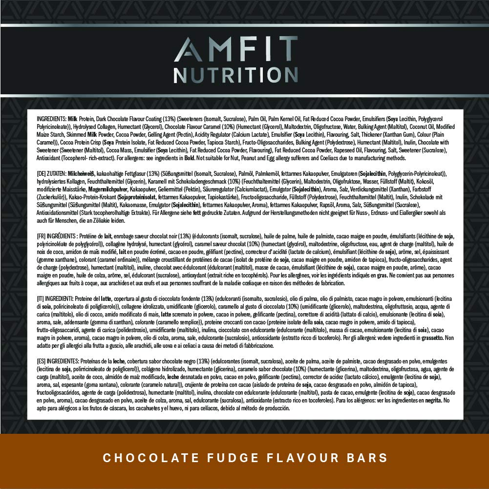 Zutaten Amfit Nutrition Riegel