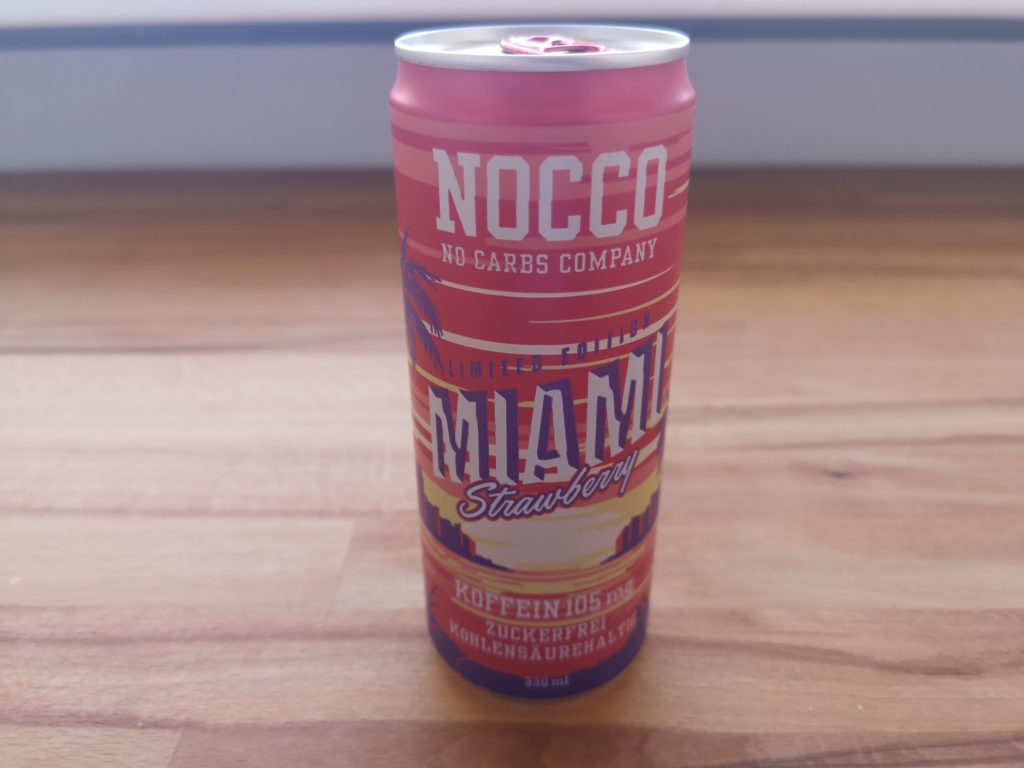 NOCCO Miami Strawberry BCAA Energy Drink