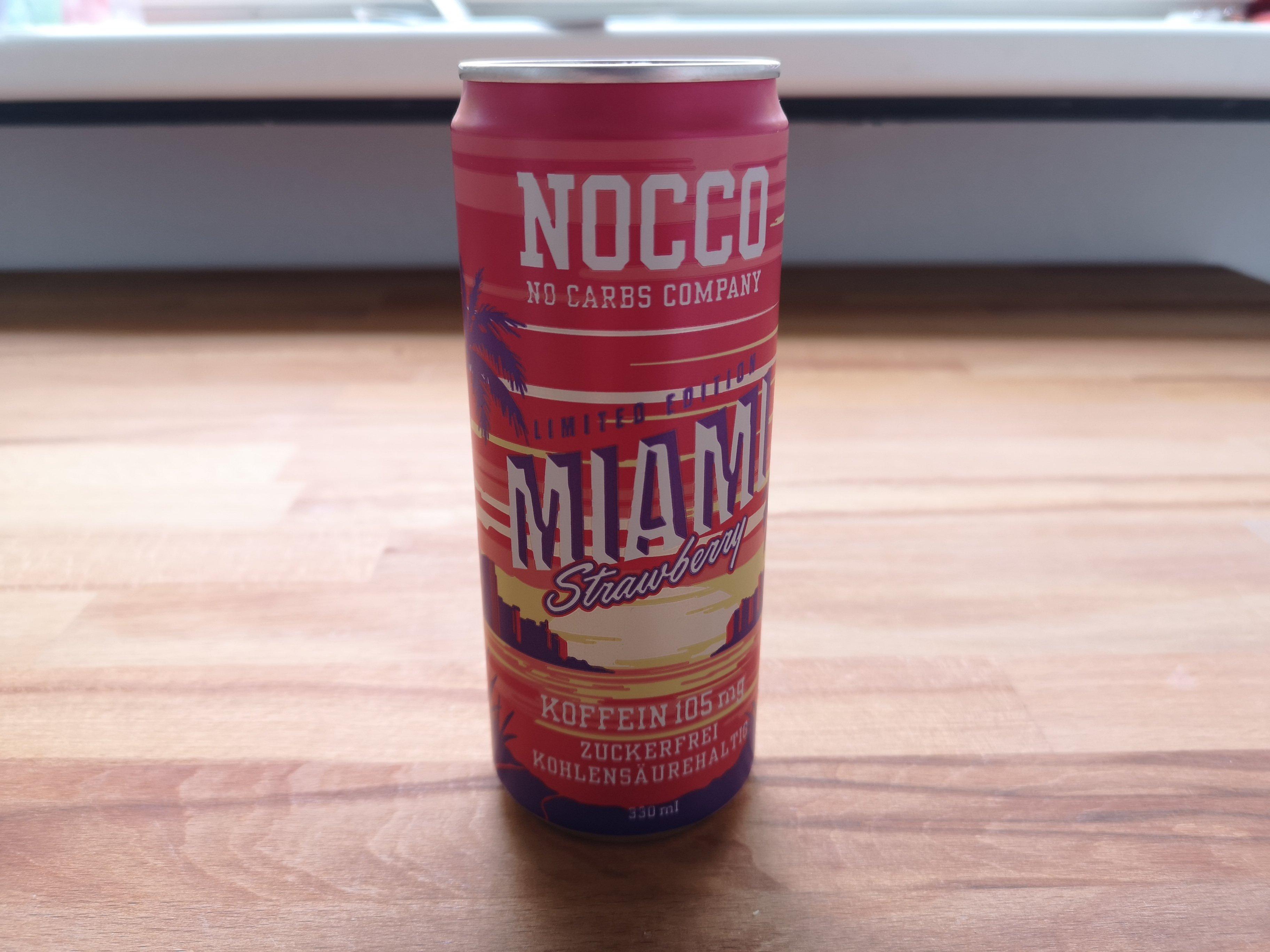 Geschmack Erdbeere Nocco