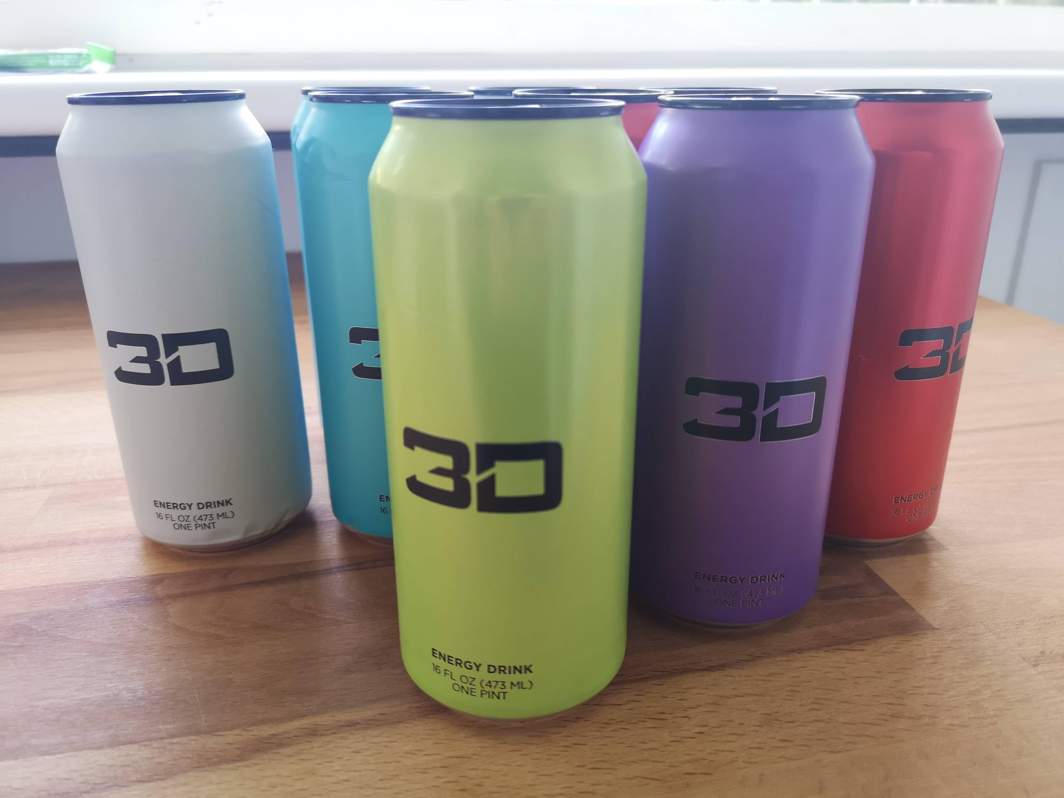 3D Energy Drink Test