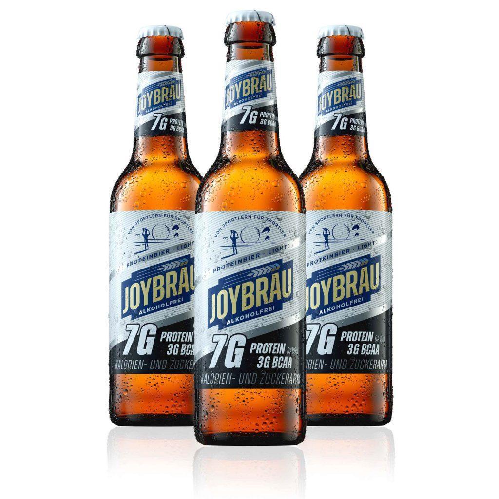 Joybräu Protein Bier Light in der Flasche