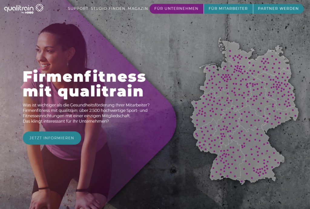 Qualitrain Webseite