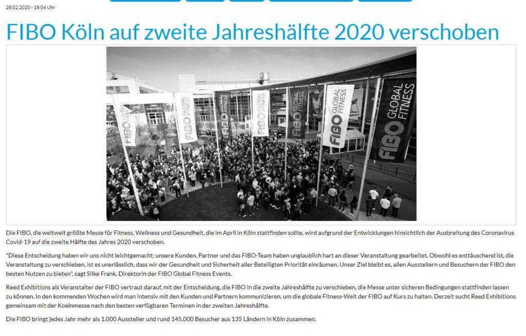 Fibo 2020 abgesagt
