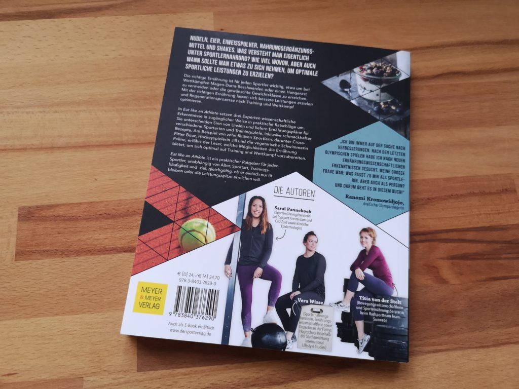 Rückseite von Eat like an Athlete von Meyer & Meyer Sportverlag