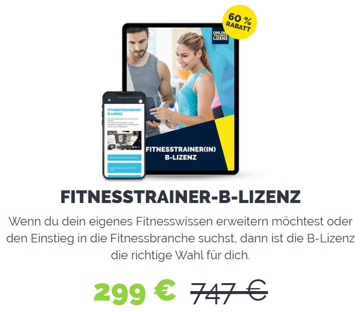 Sonderangebot Fitnesstrainer B-Lizenz